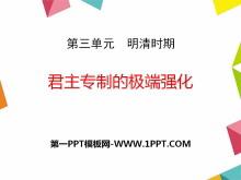 《君主专制的极端强化》明清时期PPT课件2