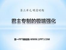《君主�V频�O端��化》明清�r期PPT�n件3