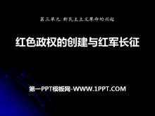 《红色政权的创建和红军长征》新民主主义革命的兴起PPT课件