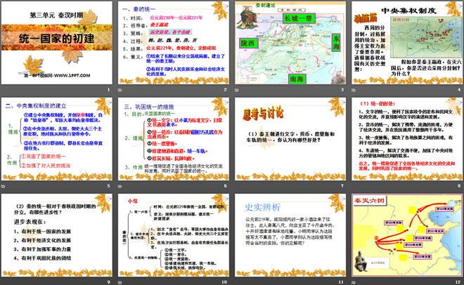 《统一国家的初建》秦汉时期ppt课件2