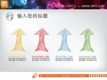 彩色手绘毕业答辩PPT图表大全