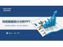 蓝色动态财务数据分析报告PPT模板