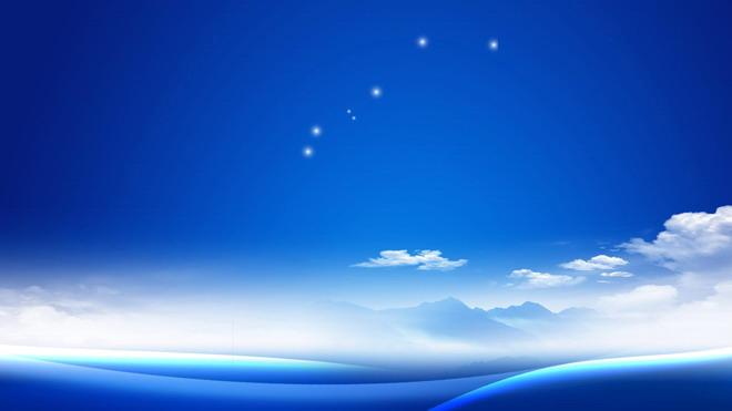 关键词:蓝天白云ppt背景图片,天空幻灯片背景图片,蓝色风景