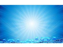 蓝色海底气泡幻灯片背景图片