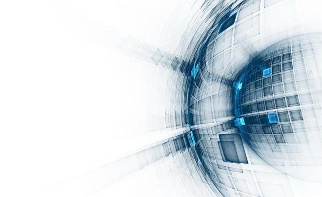 蓝色抽象科技PPT背景图片