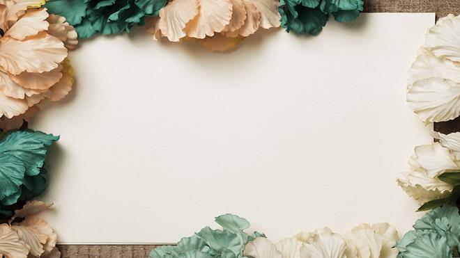复古花卉幻灯片背景图片