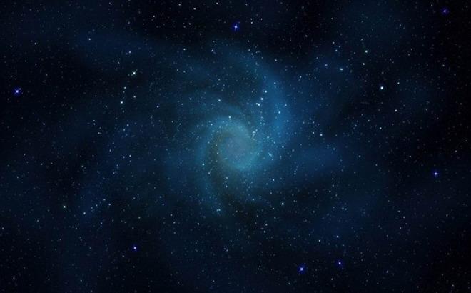 蓝色星空PPT背景图片