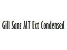 Gill Sans MT Ext Condensed Bold 字体tt娱乐官网平台