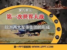 《欧洲两大军事集团的形成》第一次世界大战PPT课件