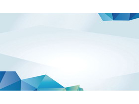 五张蓝色多边形PPT背景图片