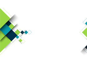 五张蓝绿方块多边形幻灯片背景图片免费下载