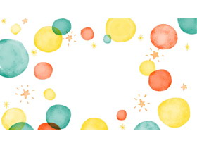 有趣的水彩泡泡PPT背景图片