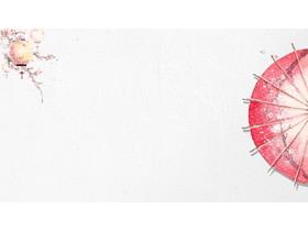 七张红色唯美中国风PPT背景图片