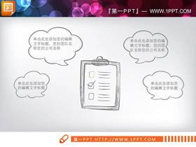 创意手绘环保主题PPT图表大全