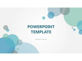 简洁淡雅蓝色气泡背景的开题报告PPT模板