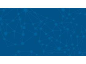 蓝色虚拟结点背景的科技PPT背景图片