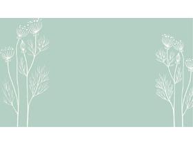 三张淡雅唯美手绘卡通PPT背景图片