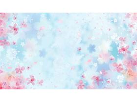 两张唯美粉色桃花PPT背景图片