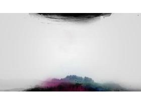 三张水墨中国风幻灯片背景图片免费下载