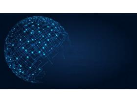 四张蓝色互联网电子商务大数据相关PPT背景图片