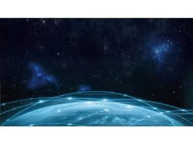 极具科技感的星空宇宙幻灯片背景图片