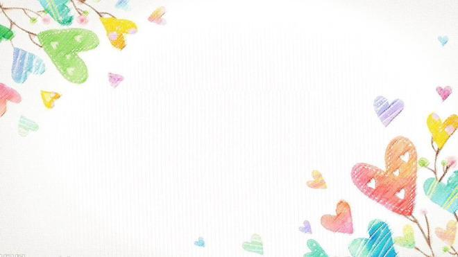 彩色涂鸦背景的六一儿童节ppt背景图片