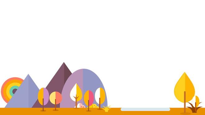 四张橙色可爱卡通幻灯片背景图片 - 第一ppt