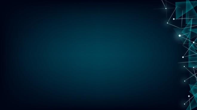 蓝色半透明多边形与连接线科技ppt背景图片