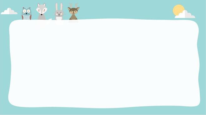 这是五张淡雅蓝色矢量绘制的,可爱卡通PPT背景图片。第一PPT模板网提供精美卡通幻灯片背景图片免费下载; 关键词:淡雅蓝色幻灯片背景图片,精致卡通PowerPoint边框背景图片,蓝天白云、小树林、可爱动物PPT背景图片,.png格式;