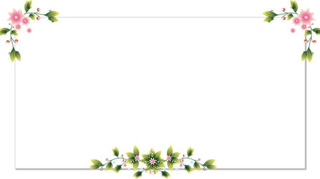 第一ppt ppt背景 边框背景图片 三张清新简洁的绿色藤蔓ppt背景图片