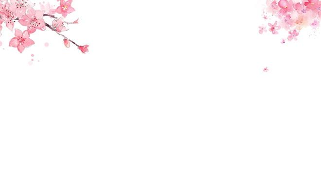 六张粉色唯美桃花PPT背景图片