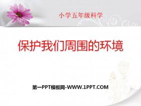 《保护我们周围的环境》PPT课件2