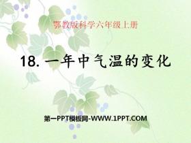 《一年中气温的变化》四季中的变化PPT课件2