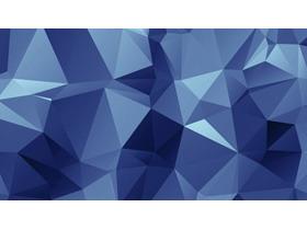 蓝色低平面多边形PPT背景图片
