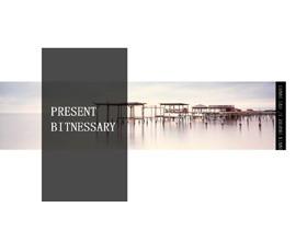简约欧美海边建筑背景PPT模板免费下载