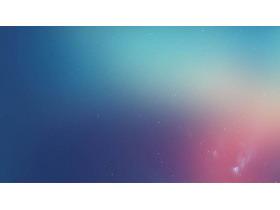 蓝色渐变iOS风格的科技PPT背景图片