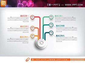 精致彩色微立体工作总结PPT图表大全