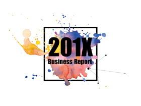 创意水彩墨迹背景的商业融资计划书PPT模板
