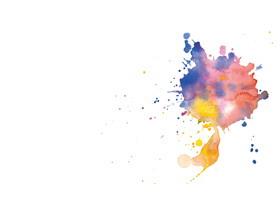 三张创意水彩墨迹PPT背景图片