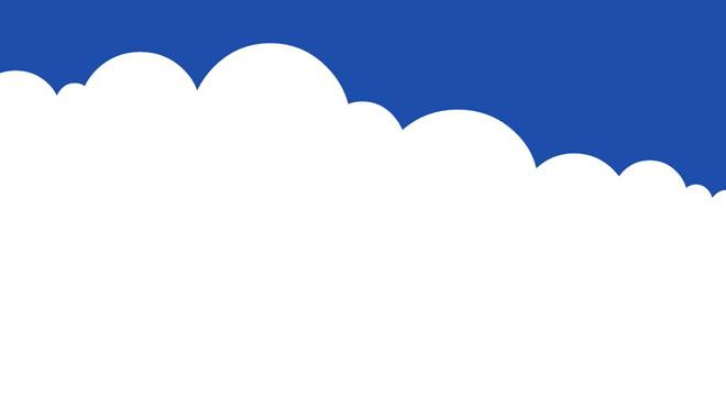 七张卡通蓝天白云ppt背景图片图片