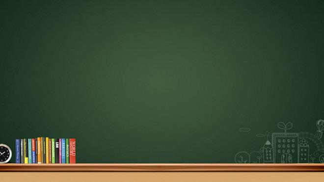 2张绿色黑板教育教学ppt背景图片