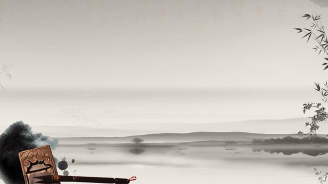 这是一套古典水墨中国风PPT背景图片,第一PPT模板网提供古典风格
