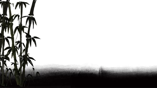 6张古典水墨中国风PPT背景图片