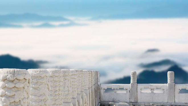 10张中国古建筑PPT背景图片