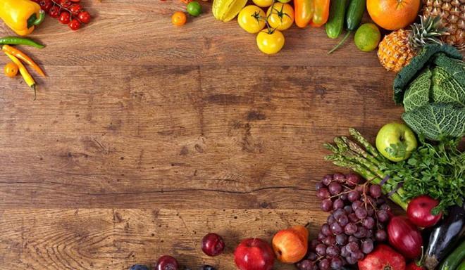 2张精致食材美食PPT背景图片