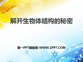 《解开生物体结构的秘密》PPT