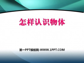 《怎样认识物体》PPT