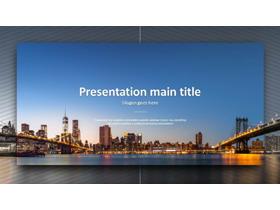 欧美建筑图片排版设计PPT模板免费下载