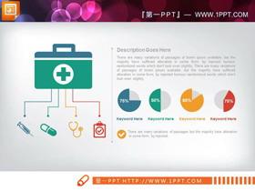 21张彩色扁平化医院医疗医学PPT图表大全