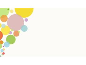 三张彩色气泡时尚PPT背景图片